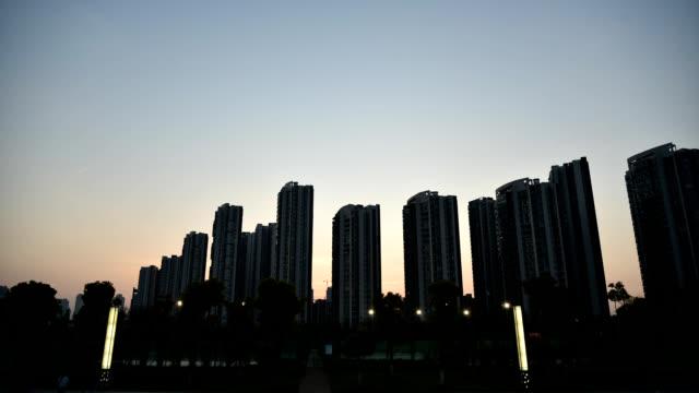 Wuhan Sunset City Skyline, China