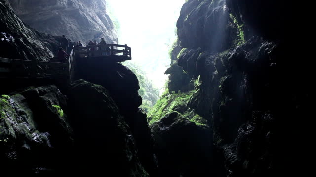 t/l ws wulong karst landform / chongqing, china - karst formation stock videos & royalty-free footage