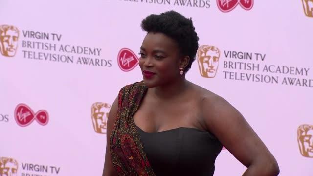 wunmi mosaku at the royal festival hall on may 14 2017 in london england - british academy television awards stock videos & royalty-free footage
