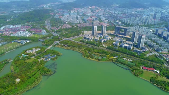 wuxi cityscape and lake taihu - liyao xie stock videos & royalty-free footage