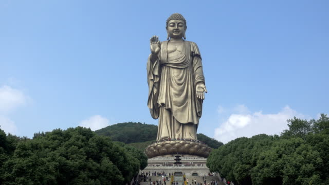 wuxi lingshan great buddha scenic area - wuxi stock videos and b-roll footage