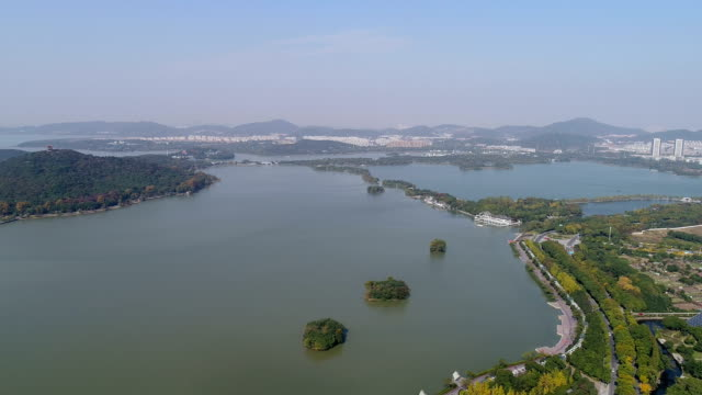 wuxi taihu scenic area - wuxi stock videos and b-roll footage
