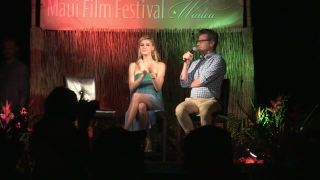 speech wyatt russell and kelly rohrbach at the 2016 maui film festival at wailea day 1 on june 15 2016 in wailea hawaii - wyatt russell stock videos and b-roll footage
