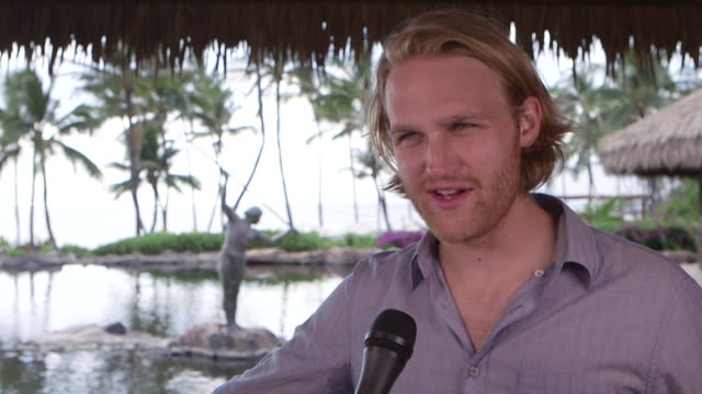 interview wyatt russell at 2016 maui film festival at wailea day 1 on june 15 2016 in wailea hawaii - wyatt russell stock videos and b-roll footage