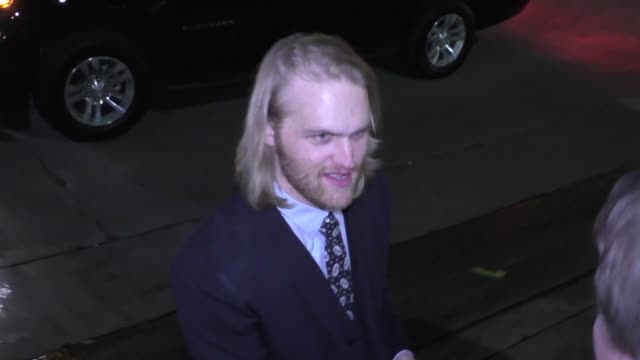 wyatt russell outside the vanity fair's young hollywood party in west hollywood at celebrity sightings in los angeles on february 23 2016 in los... - wyatt russell stock videos and b-roll footage
