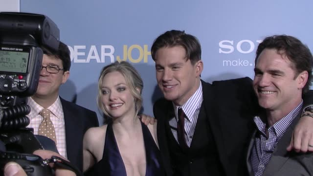 Wyck Godfrey Amanda Seyfried Channing Tatum Marty Bowen at the 'Dear John' Premiere at Hollywood CA