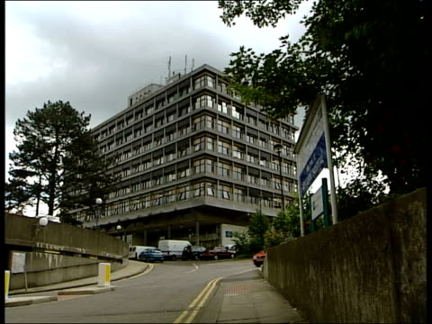 wycombe general hospital: mrsa outbreak:; ext wycombe hospital gv's - staphylococcus aureus stock videos & royalty-free footage
