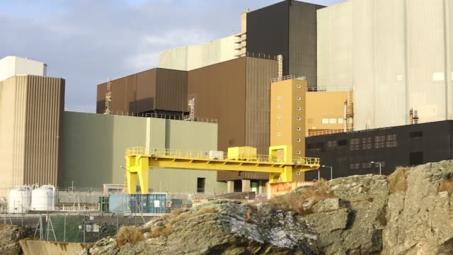wylfa nuclear power station on anglesey, wales, uk. - radiation stock videos & royalty-free footage