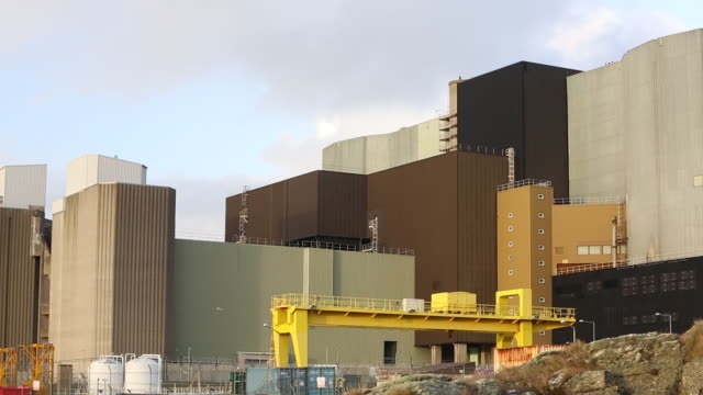 Wylfa nuclear power station on Anglesey, Wales, UK