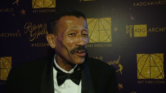 Wynn Thomas on what it means to be here tonight at 21st Annual Art Directors Guild Excellence In Production Design Awards at The Ray Dolby Ballroom...