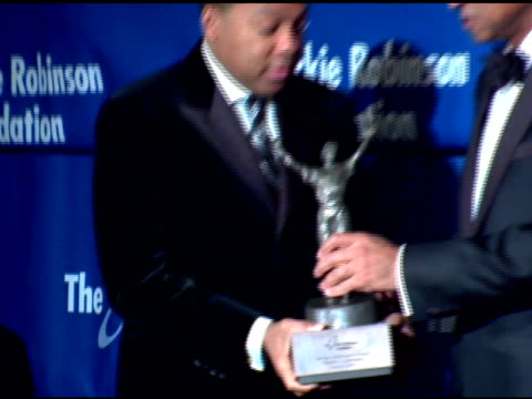 wynton marsalis at the the 2007 annual jackie robinson awards dinner at the waldorf astoria hotel in new york, new york on march 5, 2007. - waldorf astoria new york stock videos & royalty-free footage