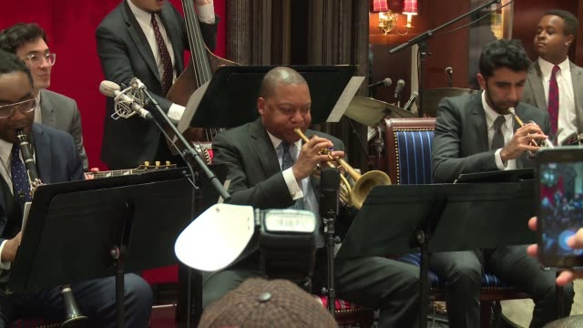 performance – wynton marsalis ensemble at brooks brothers celebrates the holidays with st jude children's research hospital at brooks brothers on... - st. jude children's research hospital stock videos and b-roll footage