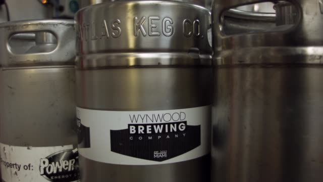 cu wynwood brewing company keg earlier this week florida senate rules committee voted 94 for a bill that would heavily restrict the states craft... - keg stock videos and b-roll footage