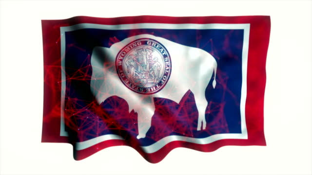 wyoming flag - country geographic area stock videos & royalty-free footage