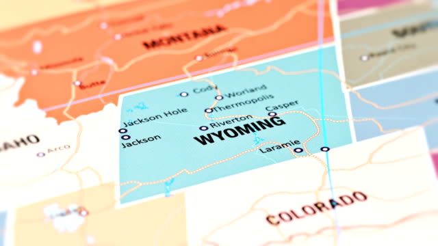 stockvideo's en b-roll-footage met wyoming van vs-staten - wyoming