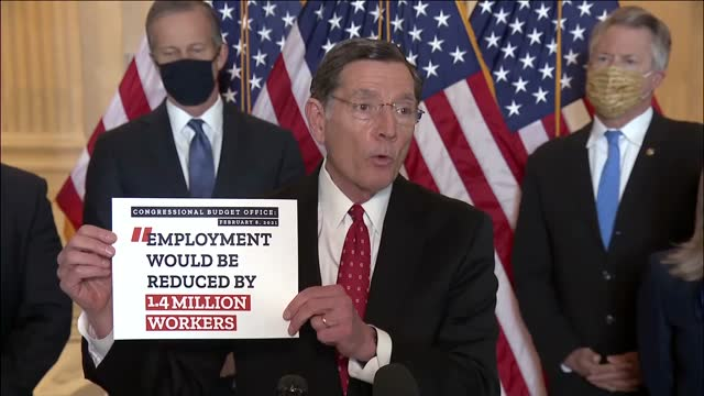 wyoming senator john barrasso says at republican press conference in opposition to increasing the federal minimum wage that the measure was of the... - wyoming stock videos & royalty-free footage