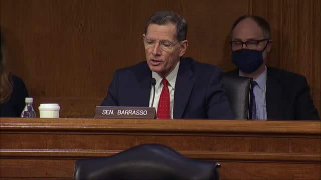 wyoming senator john barrasso says that senate energy and natural resources committee nomination hearing with energy secretary nominee jennifer... - wyoming stock videos & royalty-free footage
