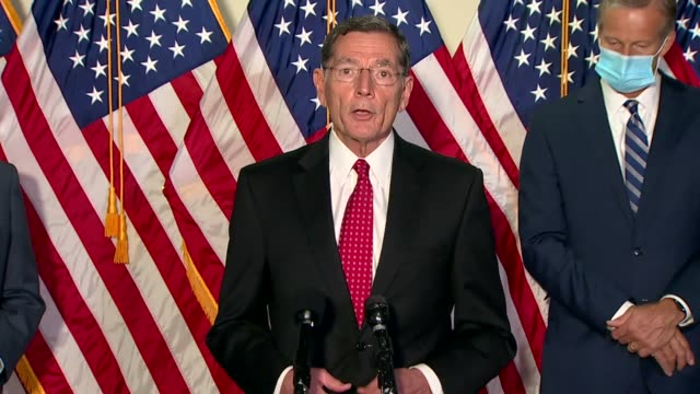 wyoming senator john barrasso tells reporters at a weekly press conference after the death of justice ruth bader ginsburg that ginsburg had said it... - add list stock videos & royalty-free footage