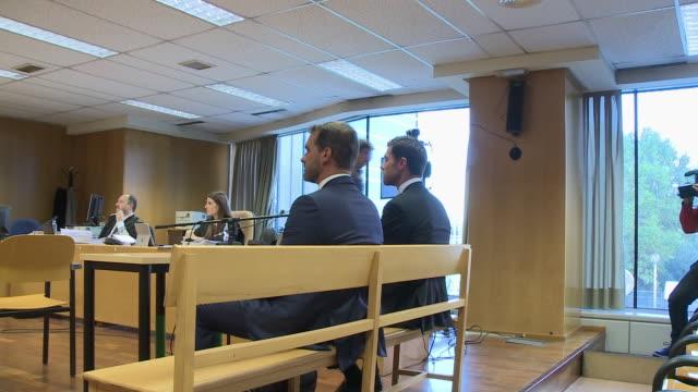 stockvideo's en b-roll-footage met xabi alonso alonso at audiencia provincial in madrid - oordeel juridische procedure