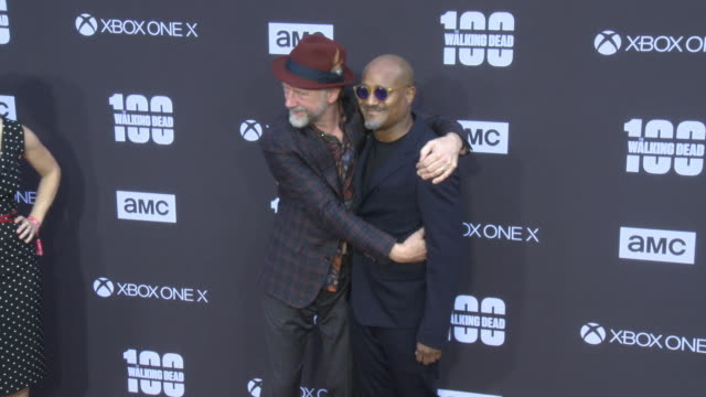 Xander Berkeley and Seth Gilliam at the AMC's The Walking Dead 100th Episode Season 8 Special Premiere Screening at The Greek Theatre on October 22...