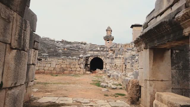 xanthos amphitheatre - amphitheatre stock videos & royalty-free footage