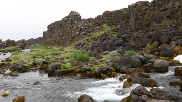 stockvideo's en b-roll-footage met öxarárfoss, iceland - verwonderingsdrang