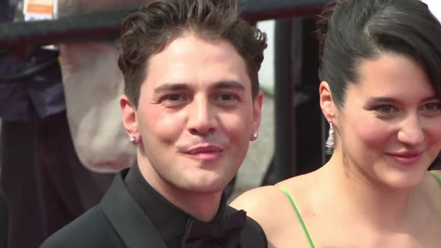 xavier dolan and the cast of his film matthias et maxime step out onto the red carpet at the cannes film festival - 72nd international cannes film festival stock videos and b-roll footage