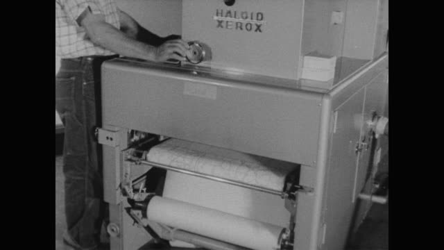1960 xerox machine copying maps at the cenus bureau - census stock videos & royalty-free footage