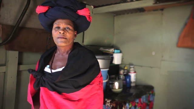 xhosa woman portrait - western cape province stock videos & royalty-free footage