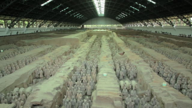 xi'an terracotta warriors - mausoleum stock videos and b-roll footage