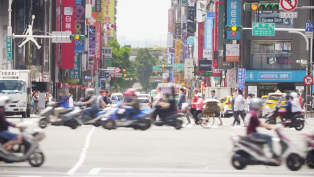 ximending and chengdu road intersection - taipei stock videos & royalty-free footage