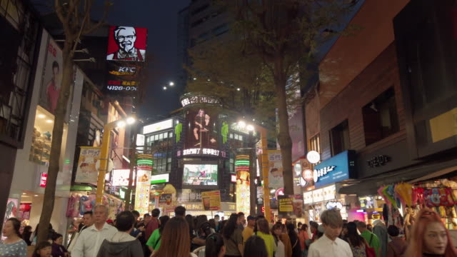 ds ws ximending at night - taiwan stock videos & royalty-free footage