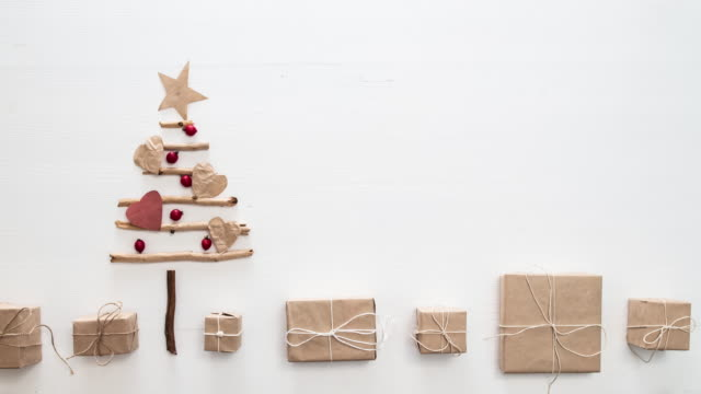 xmas tree stop motion - wrapped stock videos & royalty-free footage