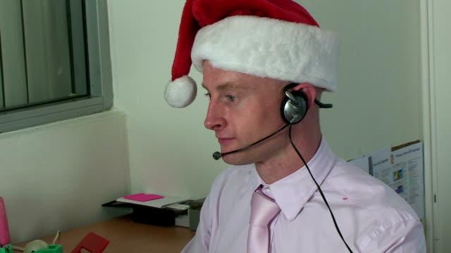 operaio natalizie - abbigliamento da lavoro formale video stock e b–roll