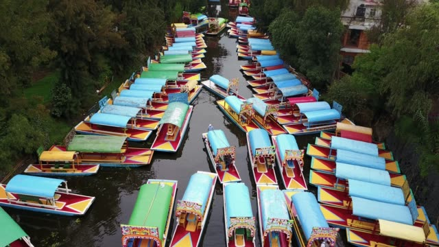 xochimilco canals - tradition stock videos & royalty-free footage