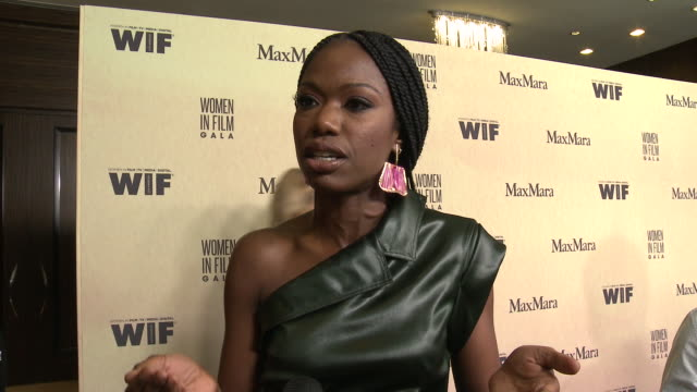interview xosha roquemore at 2019 women in film annual gala presented by max mara with additional support from partners delta air lines and lexus at... - delta air lines stock-videos und b-roll-filmmaterial
