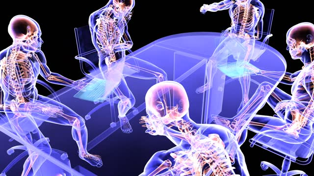 xray meeting research - biomedical illustration stock videos & royalty-free footage