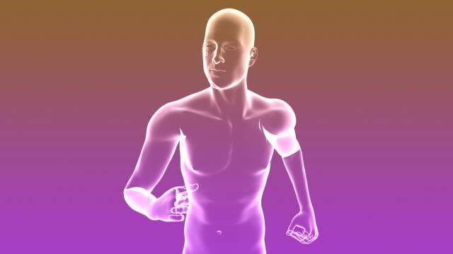 X-ray of Running Man | Loopable