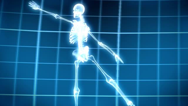 vídeos de stock, filmes e b-roll de raio-x esqueleto dança - ultrasonografia médica equipamento de monitoramento