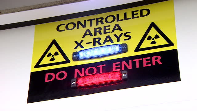 x-ray warning sign in hospital - western script stock videos & royalty-free footage