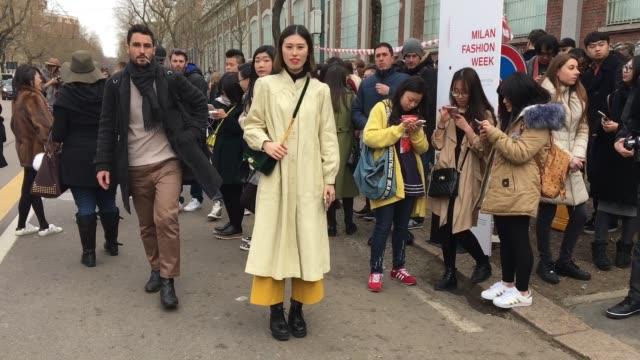 Xu Lu attending Fendi show on February 25 2016 in Milan Italy bag Rebbeccaminkof