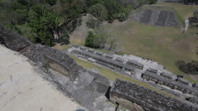 xunantunich temple in belize - archaeology stock videos & royalty-free footage