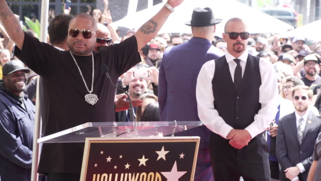 xzibit at cypress hill honored with a star on the hollywood walk of fame on april 18, 2019 in hollywood, california. - xzibit点の映像素材/bロール