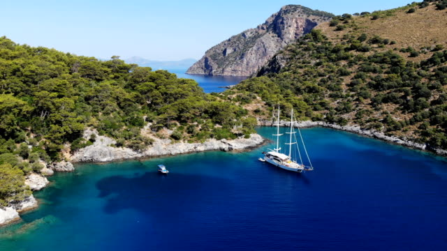 yacht. daily boat trip. blue voyage. - oludeniz stock videos and b-roll footage