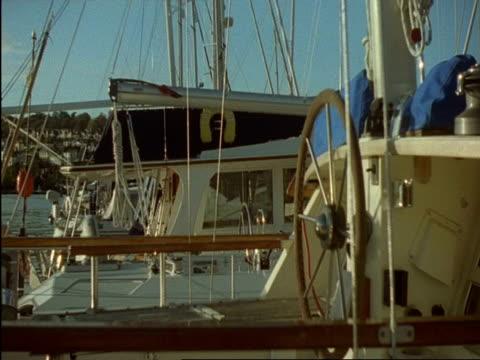 cu yacht moored in dartmouth and kingswear yacht marina, devon, england - dartmouth england stock videos & royalty-free footage