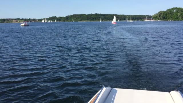 yacht or motor boat cruising - kryssa bildbanksvideor och videomaterial från bakom kulisserna