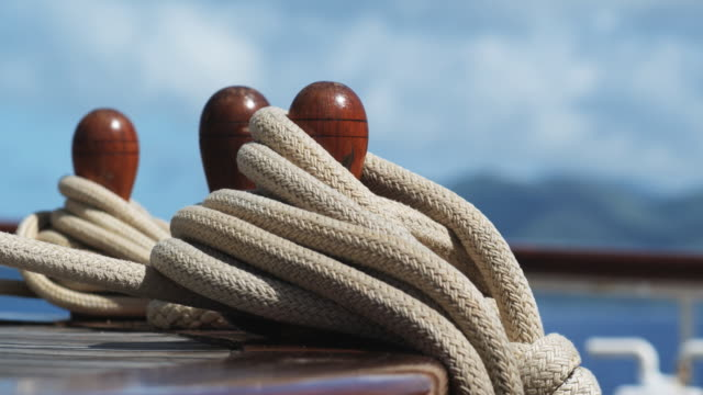 yacht ropes and tie downs