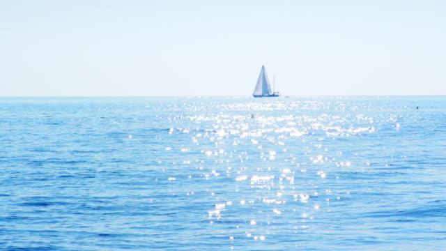 Yacht sailing in Mediterranean