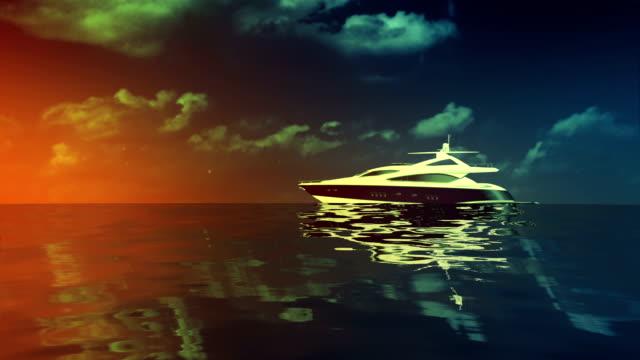 yacht sunset