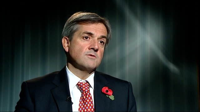 osborne apologises / mandelson links with deripaska never investigated; england: london: int chris huhne mp interview sot - advice to lord mandelson... - クリス ヒューン点の映像素材/bロール